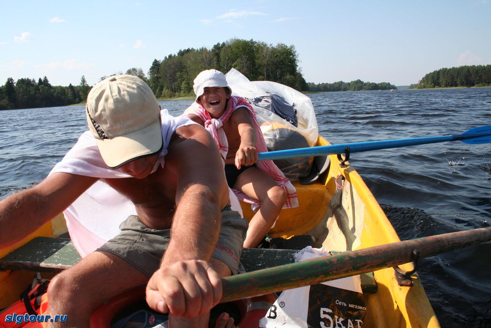 Поход на лодках с детьми